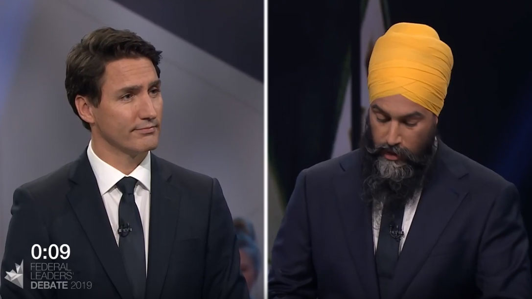 Leaders debate Canada's role in the world